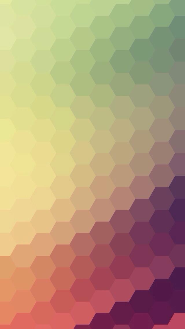 Gradient Honeycomb Pattern iPhone 5 Wallpaper.