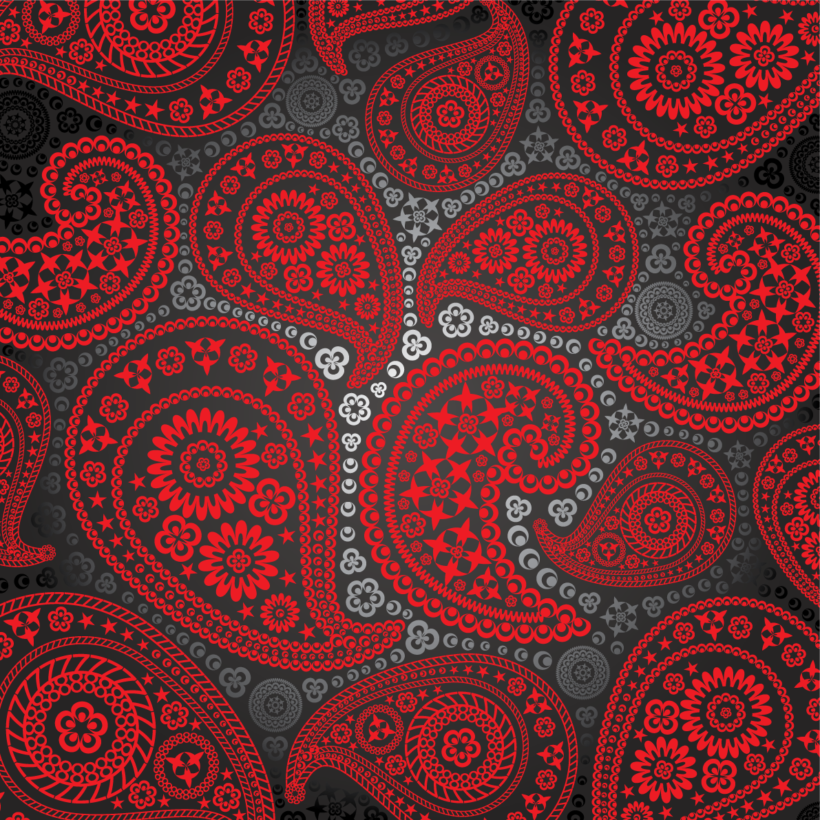Image Gallery red paisley