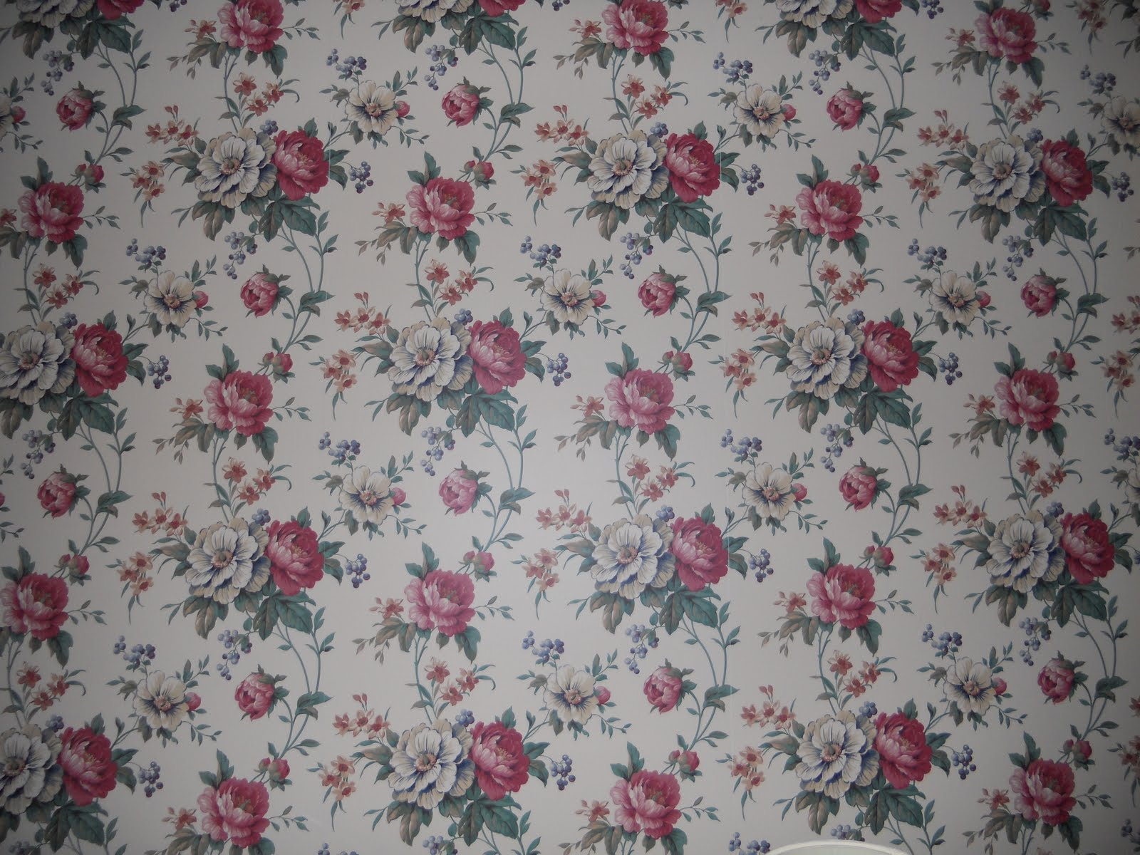 Victorian Floral Wallpaper Patterns Floral wallpaper pattern 1600x1200