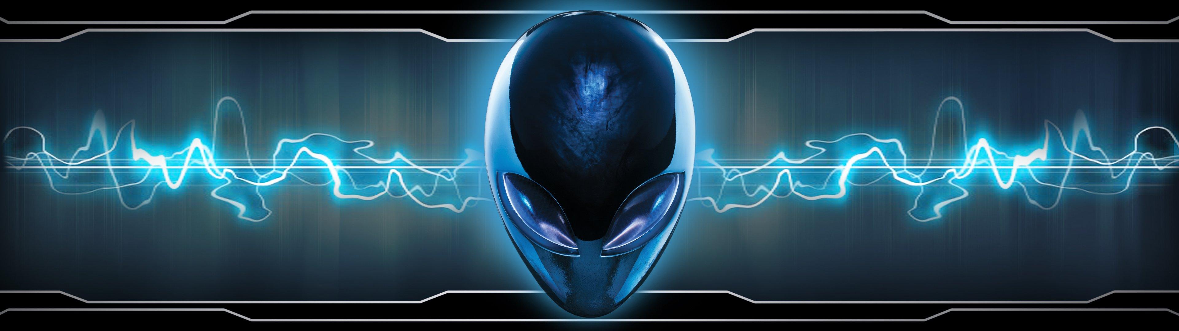 dual monitor scrren multi multiple alien alienware wallpaper 3840x1080