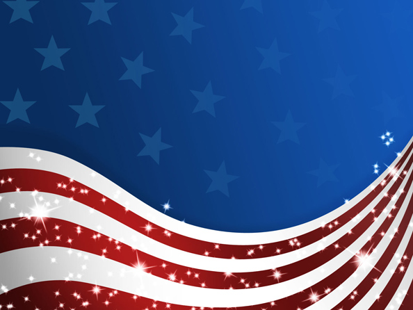Wavy USA Flag with Stars   Web Backgrounds 594x446