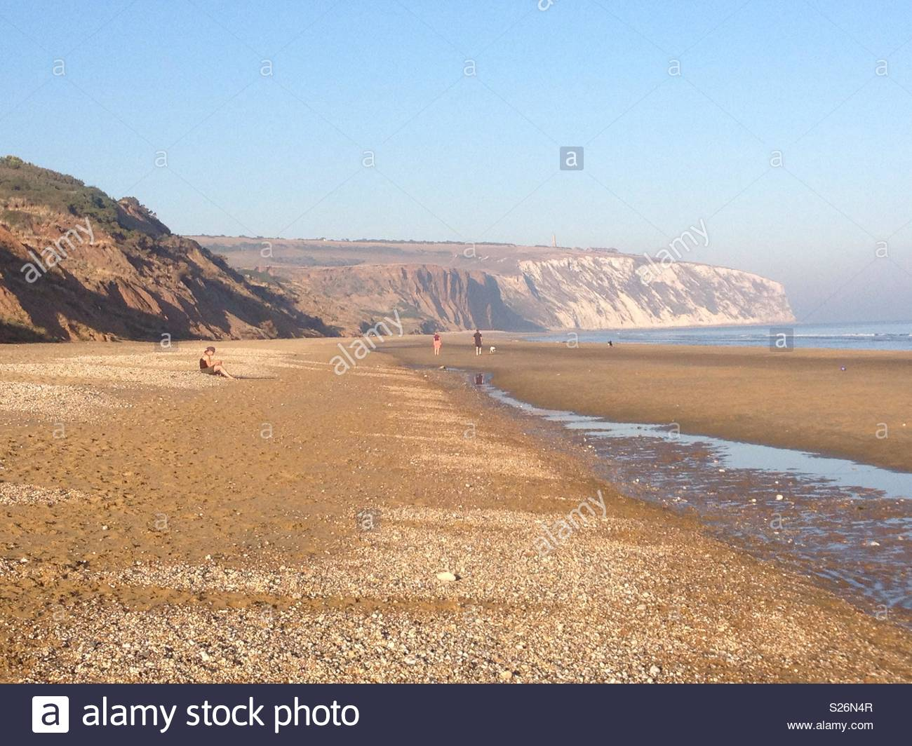 Yaverland Beach on the Isle of Wight with Culver Cliff in the 1300x1064