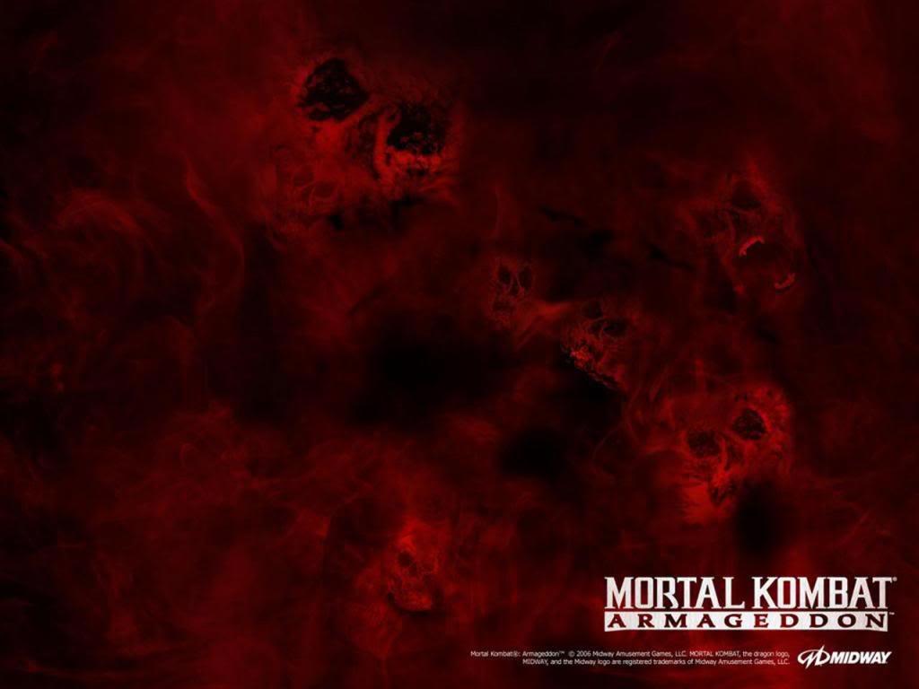 ... Armageddon Red Background - Mortal Kombat Armageddon Red Wallpaper for
