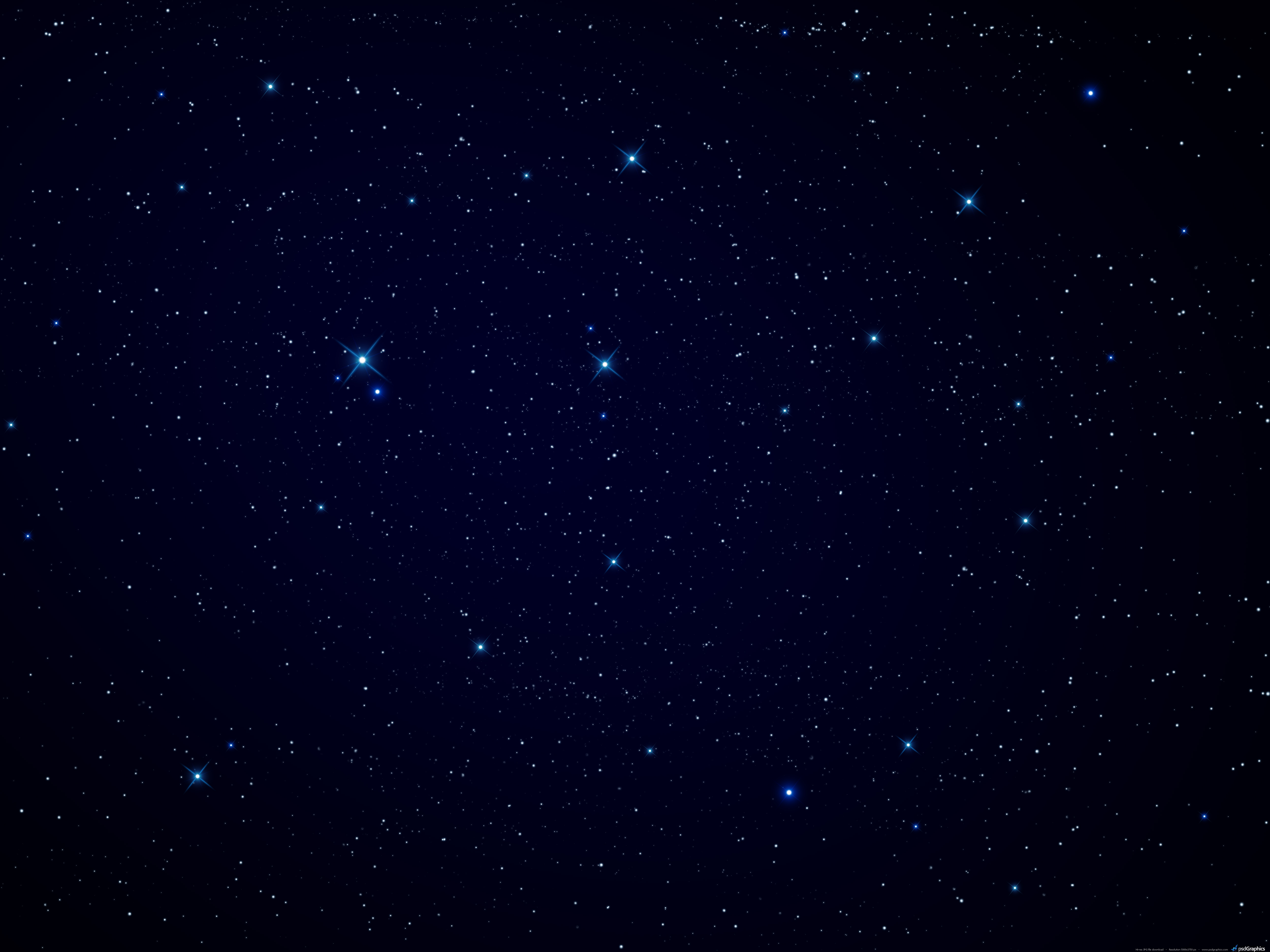 Night sky stars background PSDGraphics 5000x3750