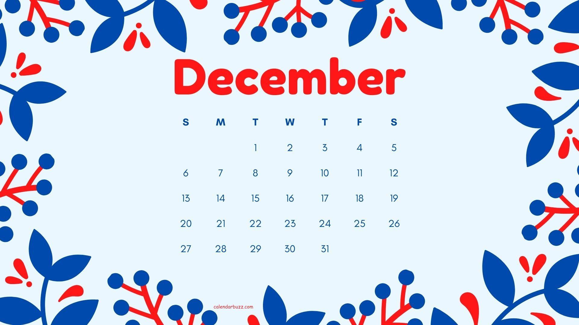 December 2020 Desktop HD Calendar Wallpaper Download 1920x1080