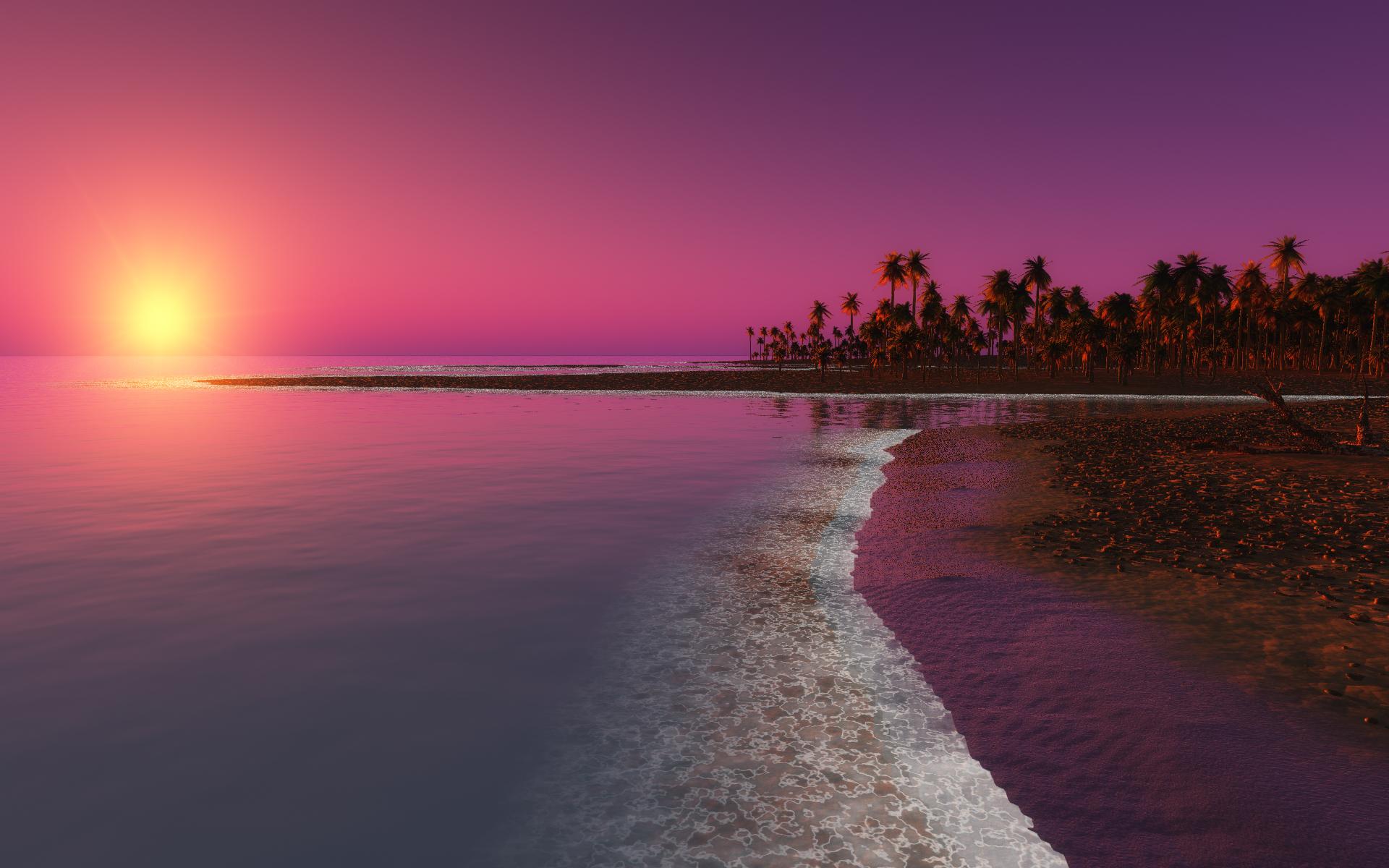 Pink Landscape Desktop Backgrounds   Wallpaper High Definition High 1920x1200