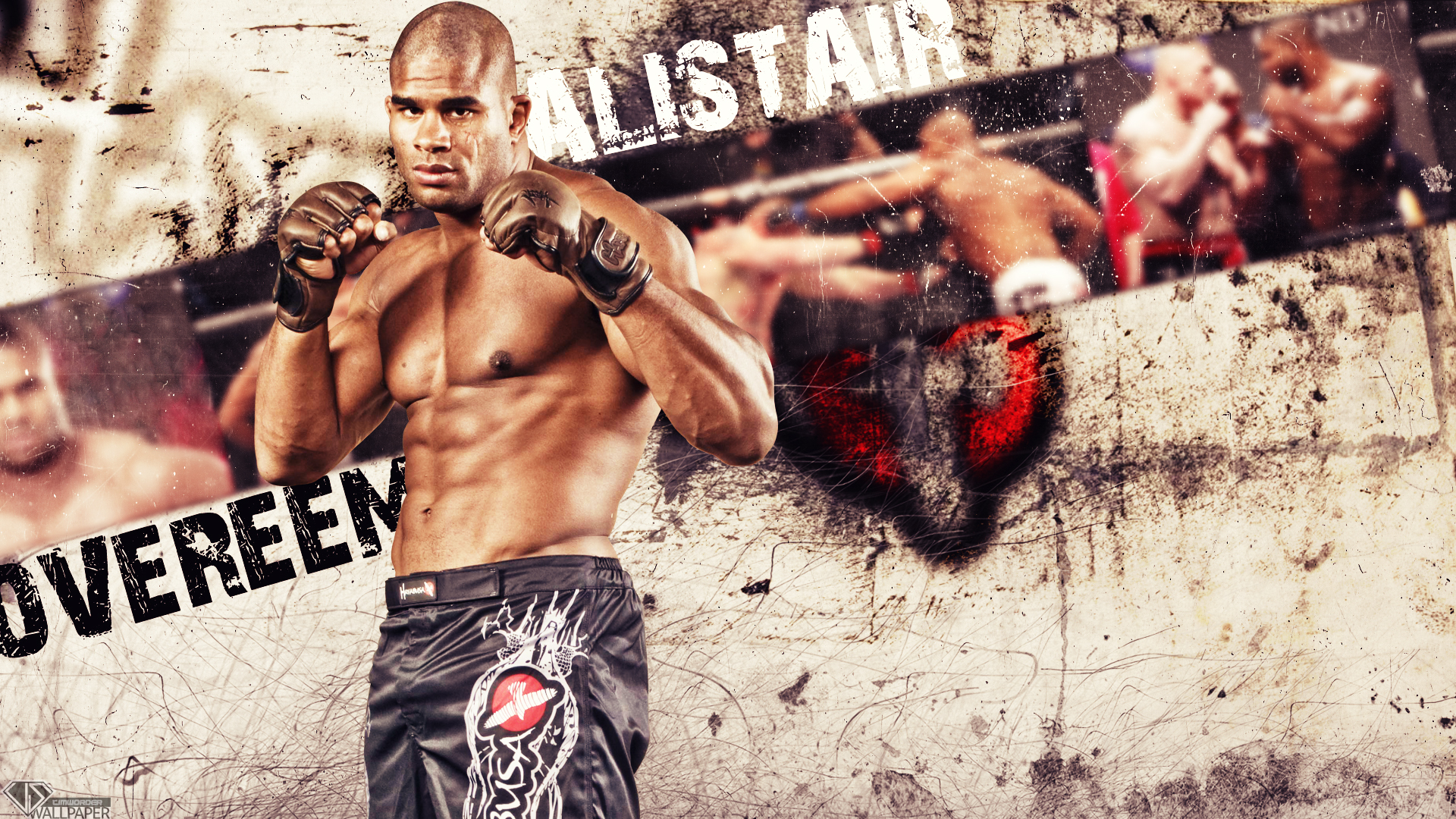 UFC fighter Alistair Overeem 1920x1080