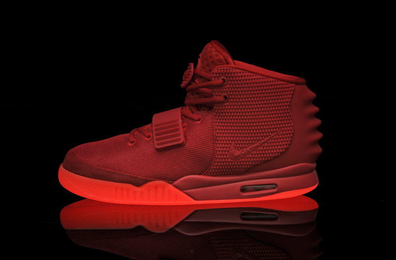 Glow In The Dark Nike Air Yeezy Red Shoes