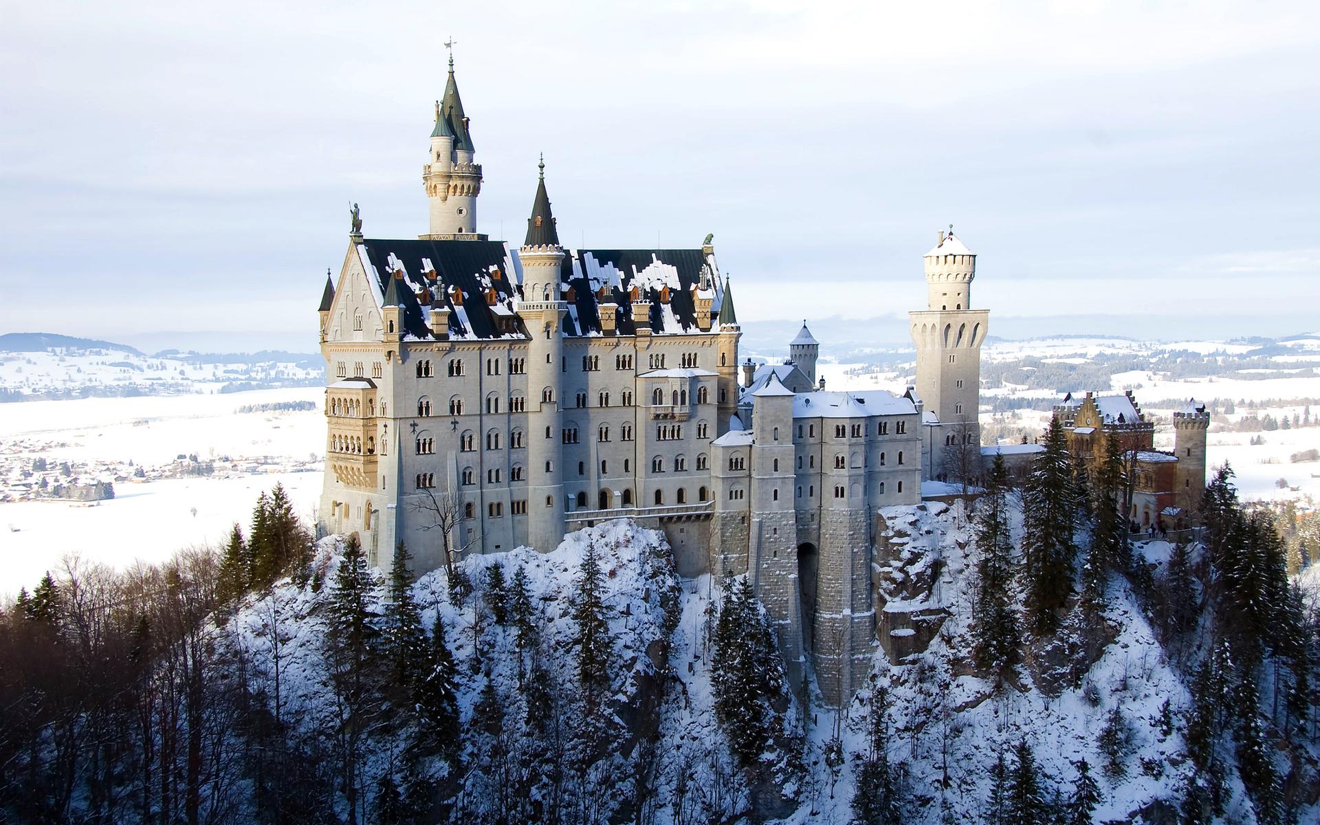 Castle Neuschwanstein Wallpaper Germany Photographic HD Desktop 1920x1200