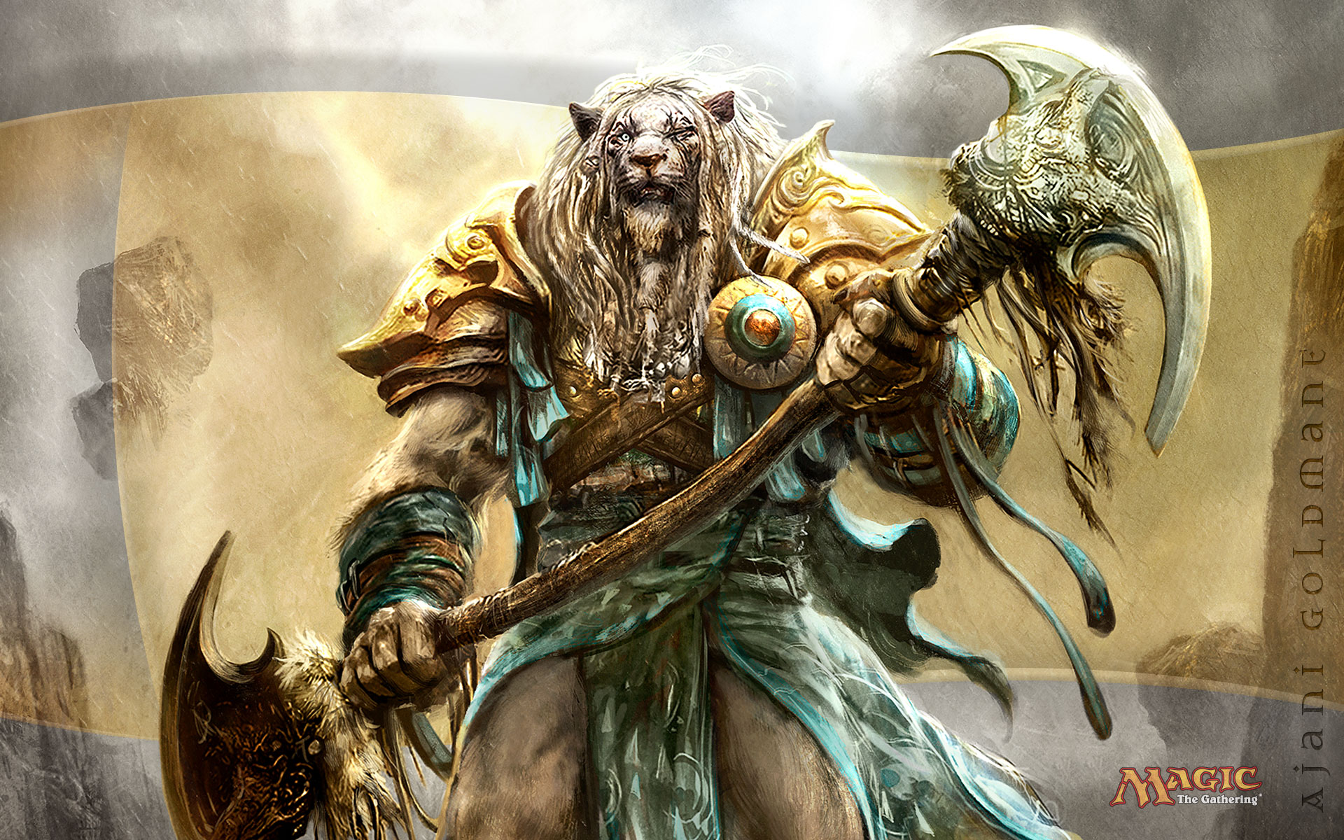 Cool Warrior Lion Wallpaper Desktop 1920x1200