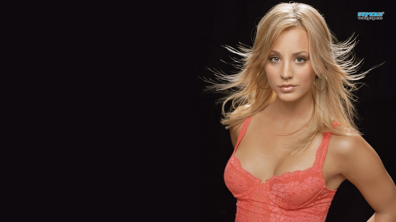 Kaley Cuoco Latest Cover HD Wallpaper   StylishHDWallpapers 1366x768