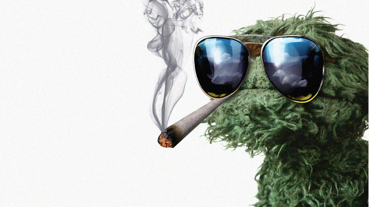 Oscar the grouch sunglasses wallpaper