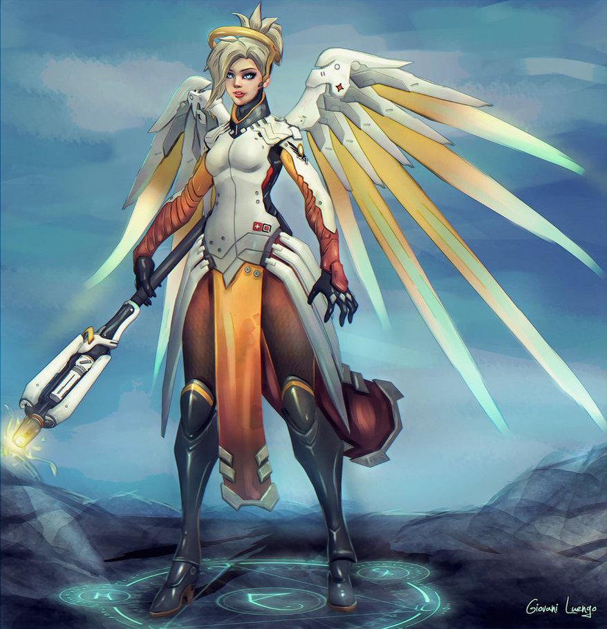 Overwatch картинки ангел