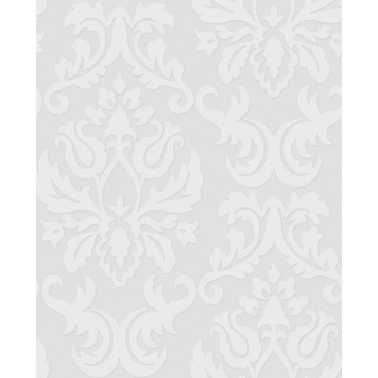 Graham Brown Paintable Damask Wallpaper in White   17773 736x736
