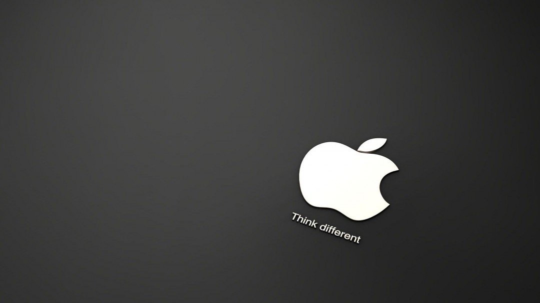 Apple Logo Black and White HD Wallpaper of Black and White 1080x607