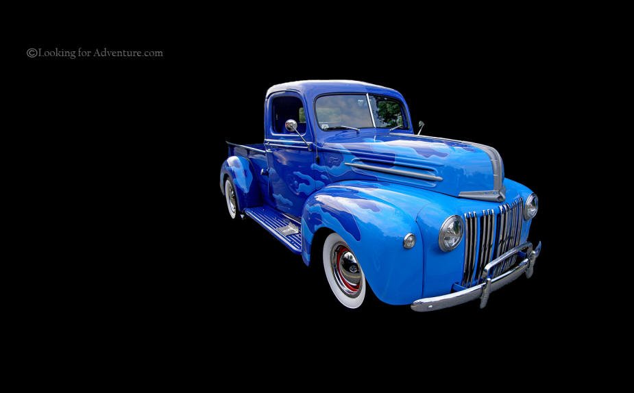 Old Blue Ford Truck Desktop Background Wall Paper 925x574