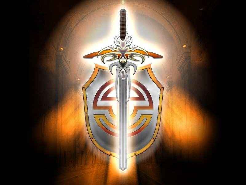 Щит и меч красивая картинка