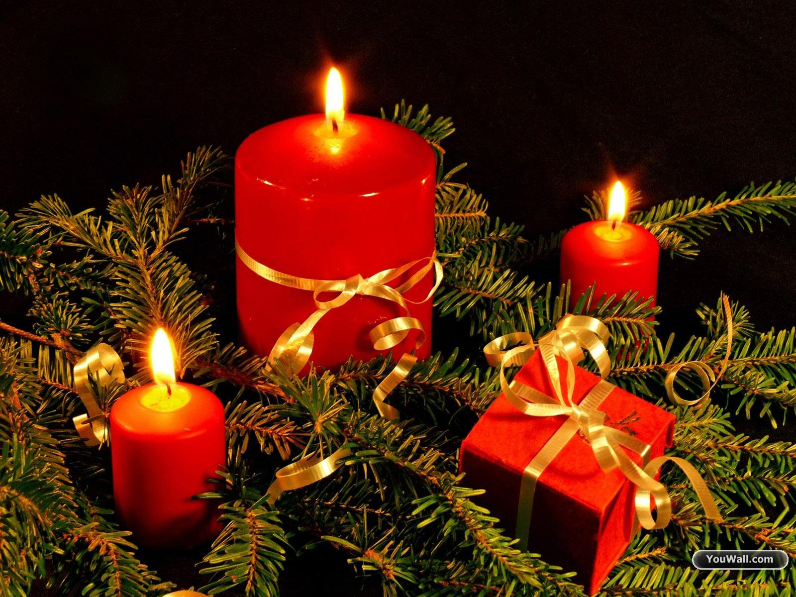 Christmas Candles Wallpaper   wallpaperwallpapersfree wallpaper 1600x1200