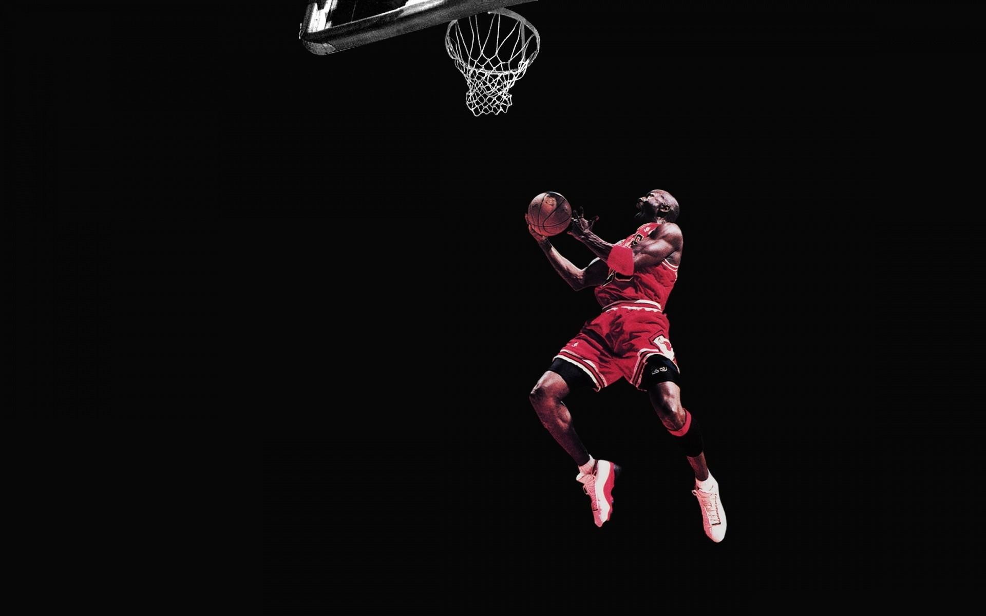 Michael Jordan Chicago Bulls Basketball Jump Black wallpaper 1920x1200
