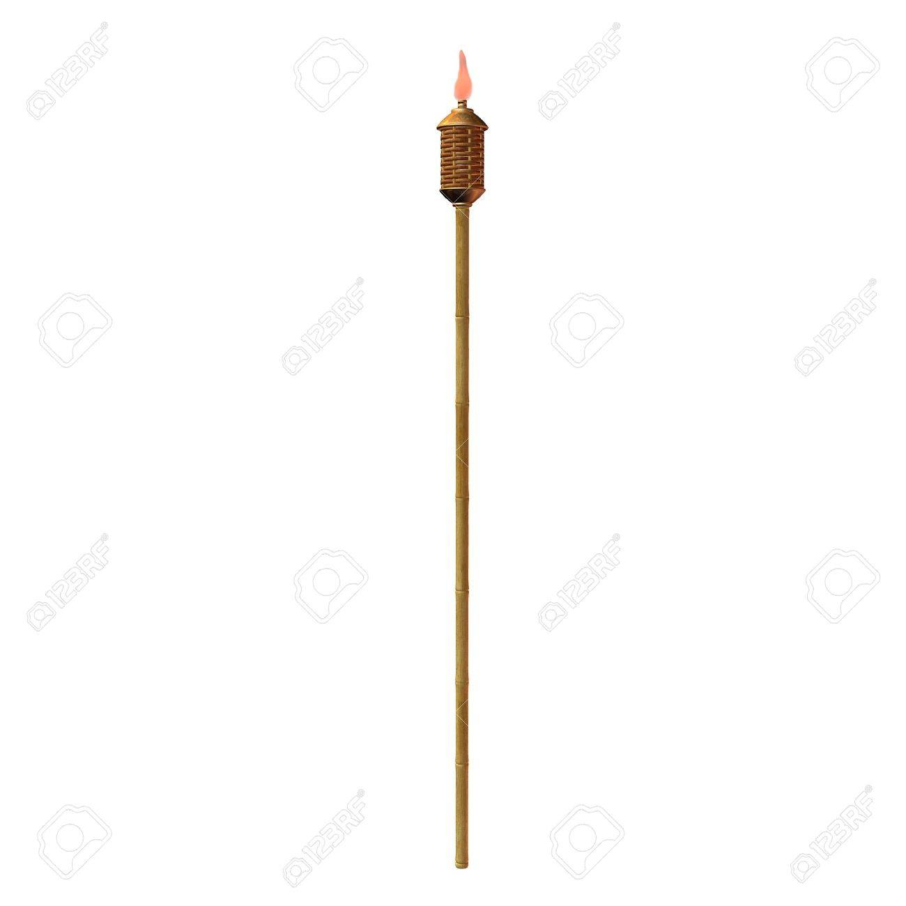 Tiki Torch Illustration On A White Background Stock Photo Picture 1300x1300