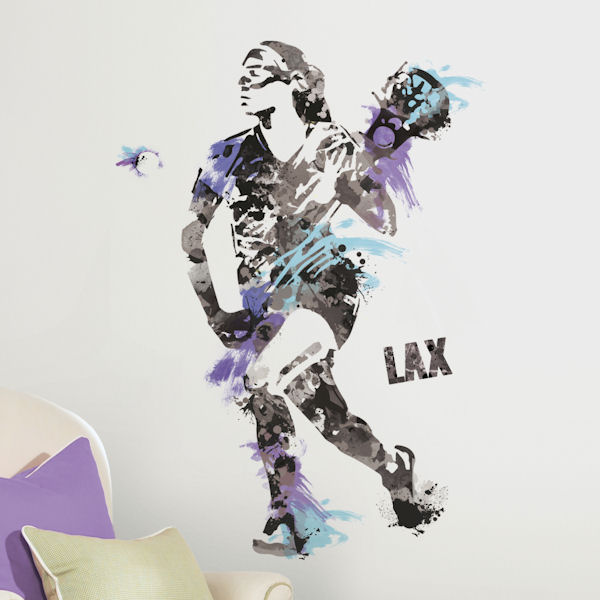 Girls and Womens Lacrosse Giant Wall Decal   Wall Sticker Outlet 600x600