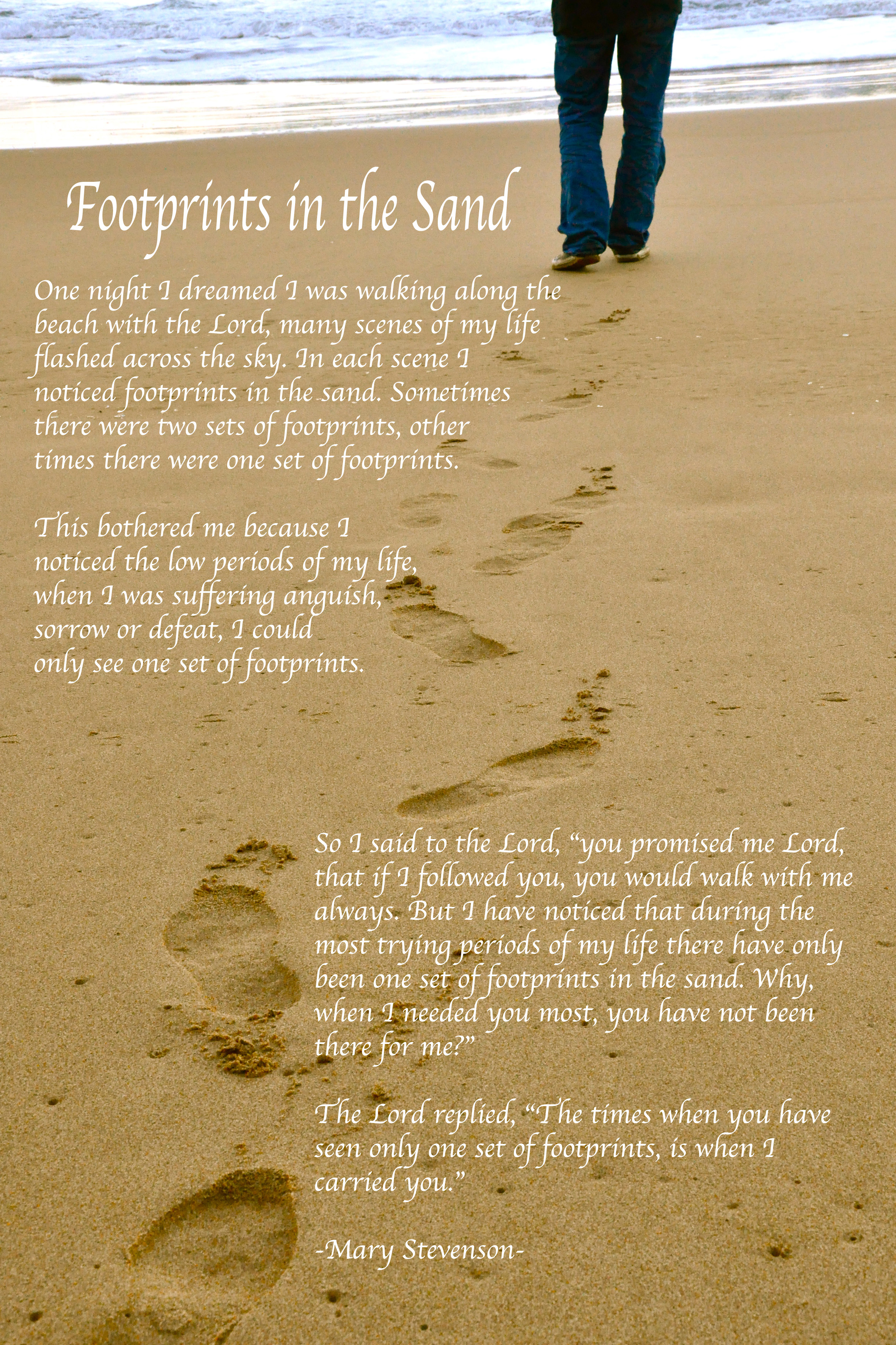 Footprints Poem Wallpaper 2362x3543