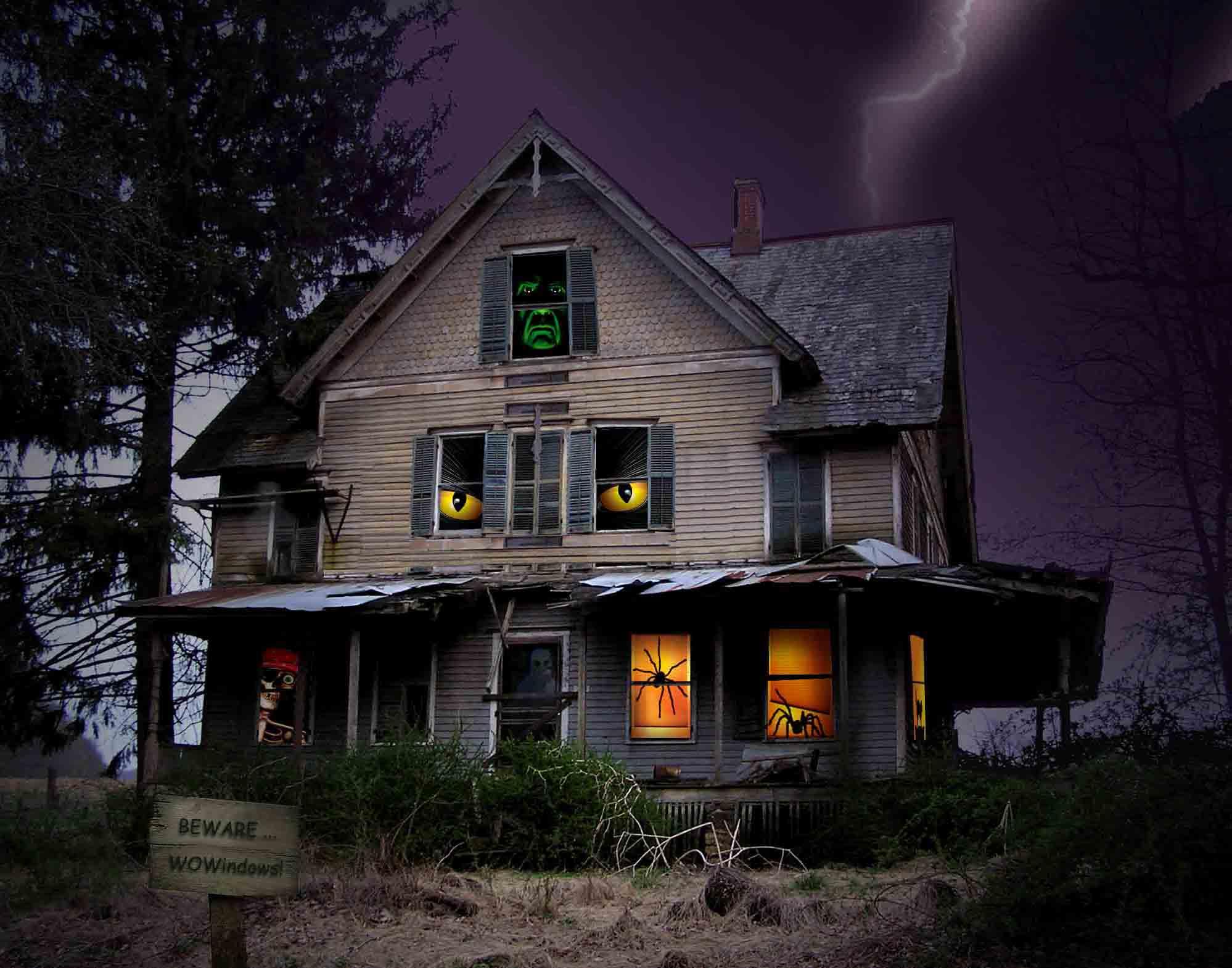Scary Halloween Pumpkin 2012 Haunted House HD Wallpaper 1998x1570