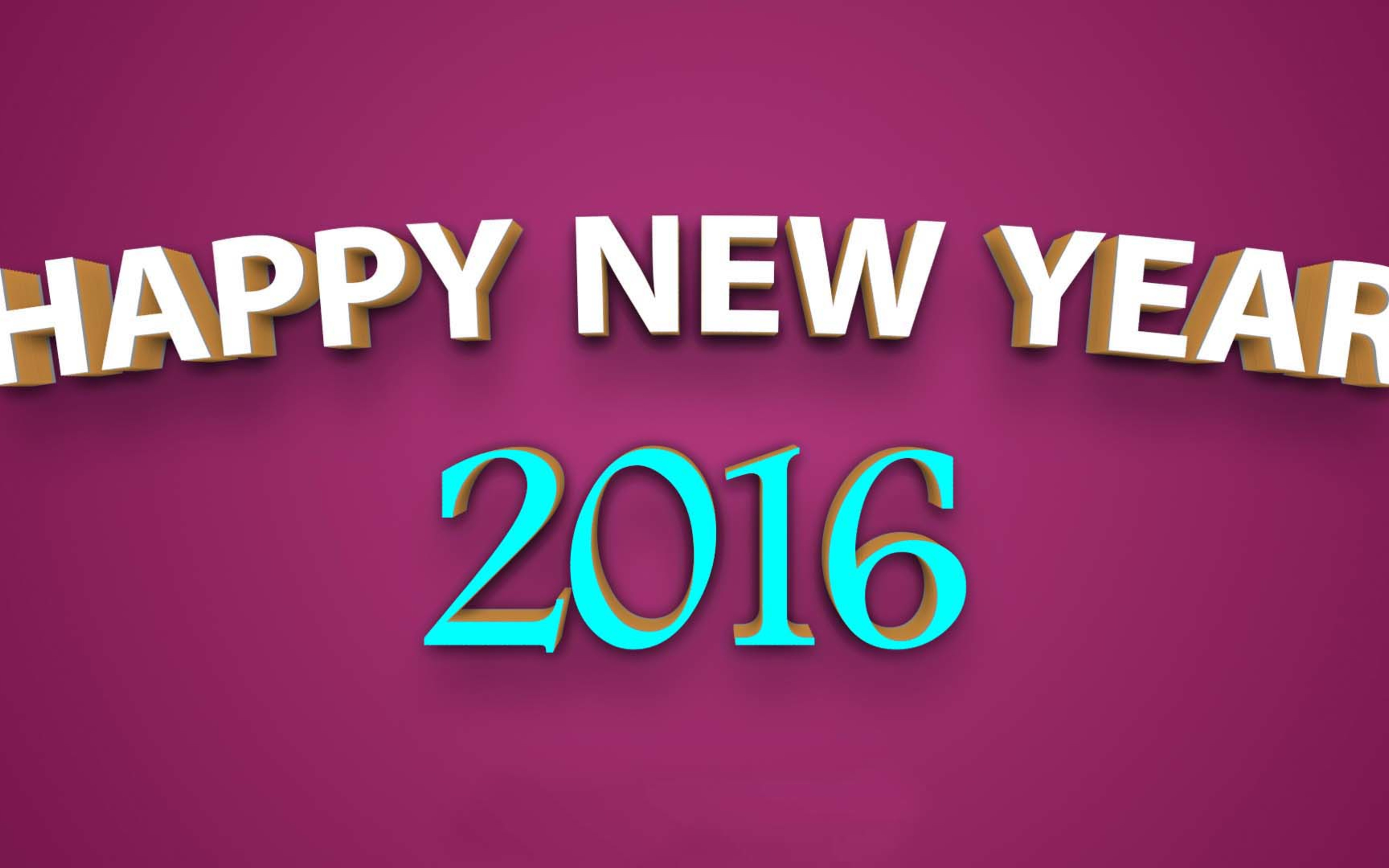 Free download Simple wallpaper Happy New Year 2016 [5120x3200] for