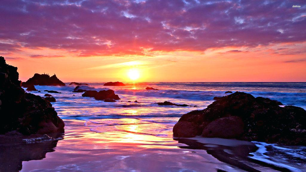 Ocean Sunset Wallpaper   Wallperiocom 1024x576