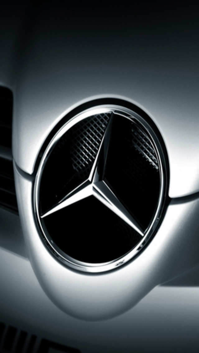 Mercedes Benz LOGO iPhone 5 Wallpaper 640x1136
