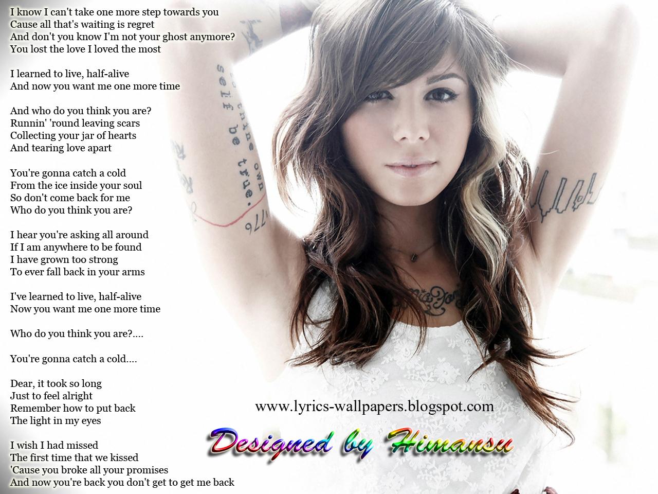 lyrics wallpapers christina perri jar of hearts artist christina perri 1280x960
