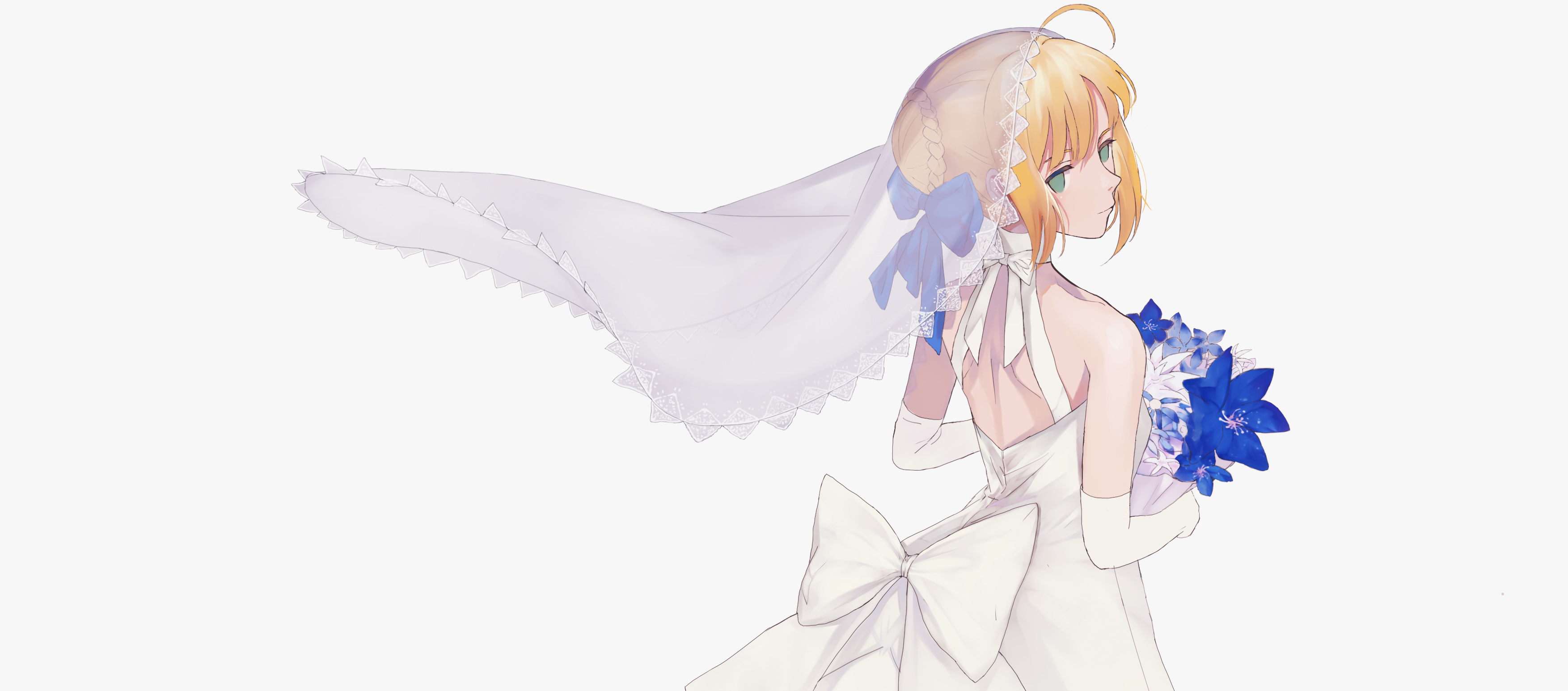 fate series fatestay night saber yong kit lam konachancom 3507x1546