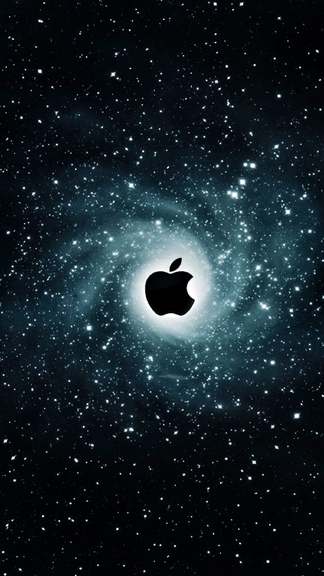 iPhone 5 Wallpaper Apple galaxy 640x1136
