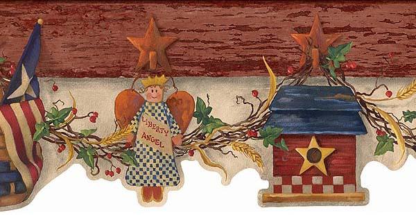 americana   Wallpaper Border Wallpaper inccom 600x310