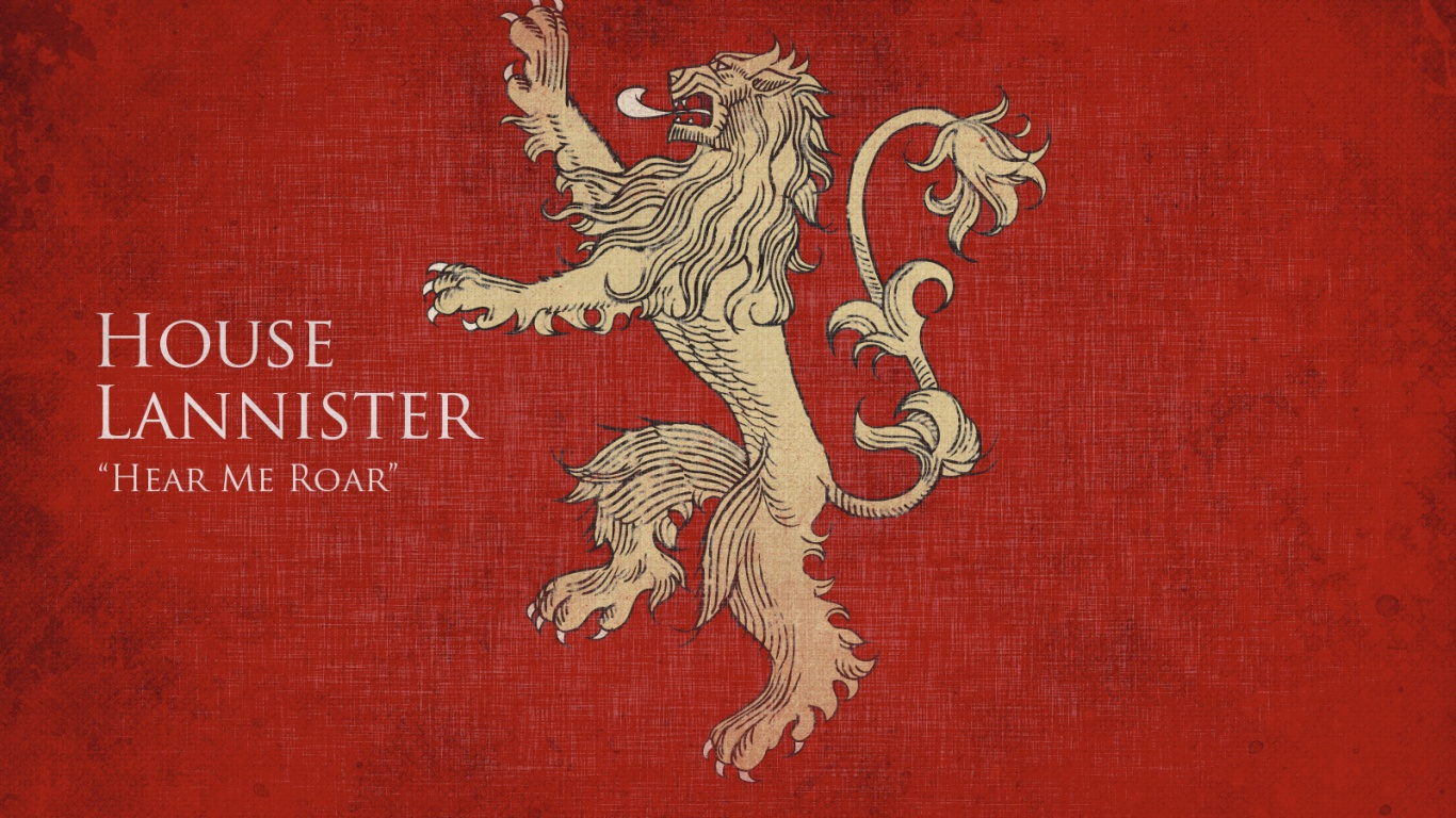 1366x768 Game of Thrones House Lannister desktop PC and Mac wallpaper 1366x768