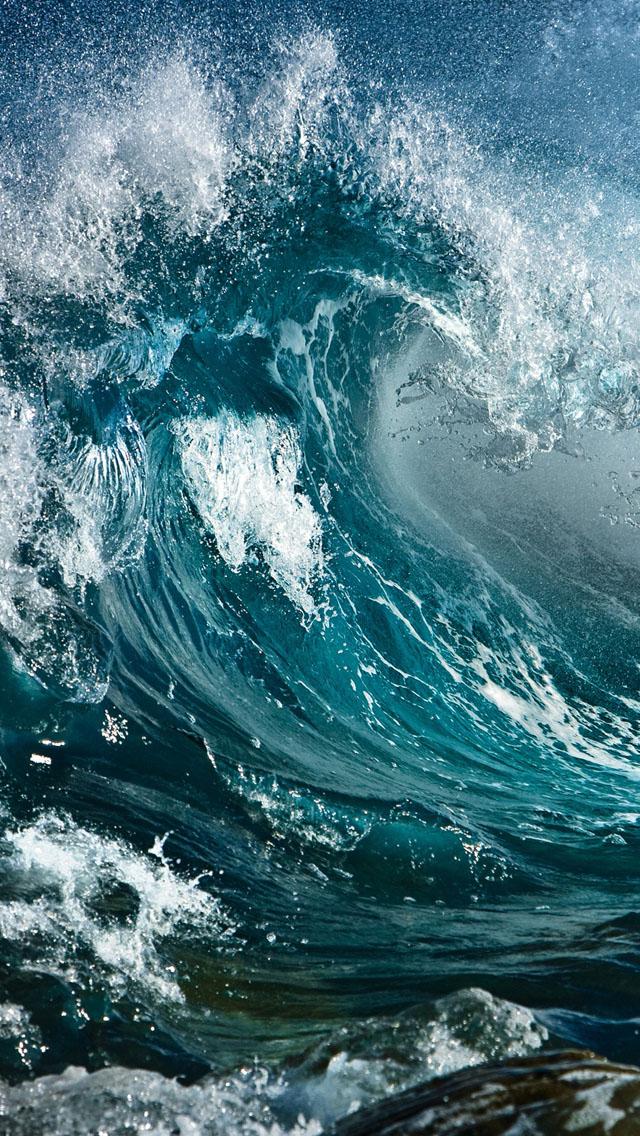 Wave IPhone 5s Wallpaper Download Wallpapers IPad 640x1136