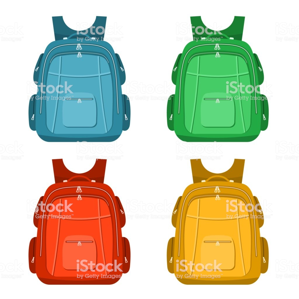 Color Image Of A Backpacks On A White Background School Backpack 1024x1024