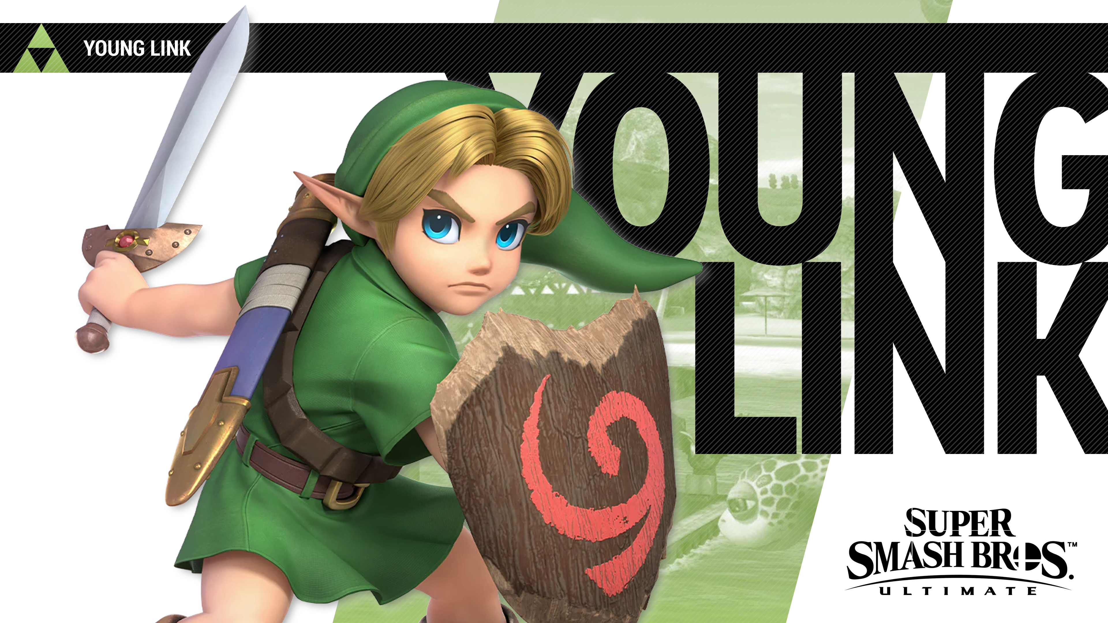 Super Smash Bros Ultimate Young Link Wallpapers Cat with Monocle 3840x2160