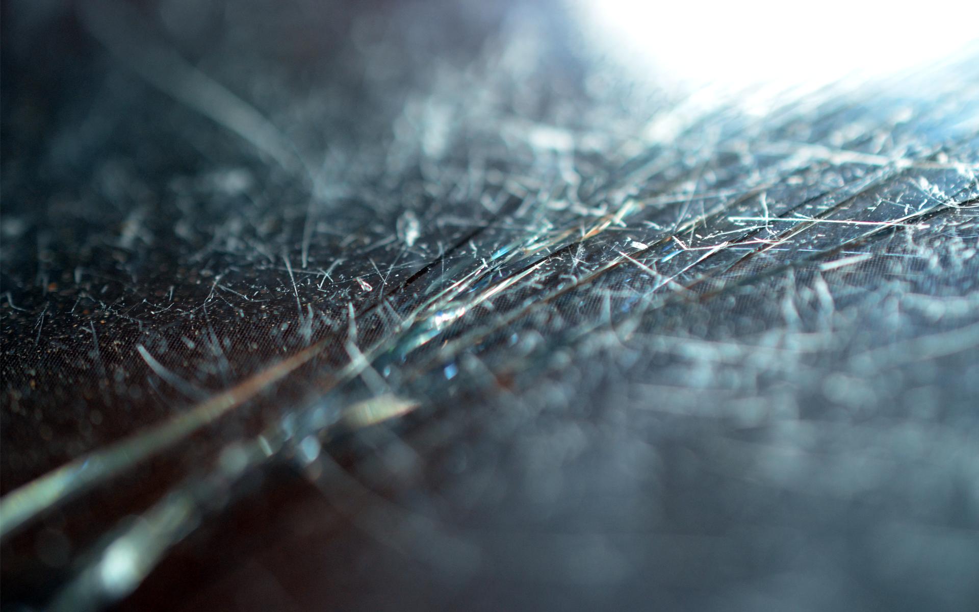 broken screen iphone macro micro blurred broken glass cracks wallpaper 1920x1200