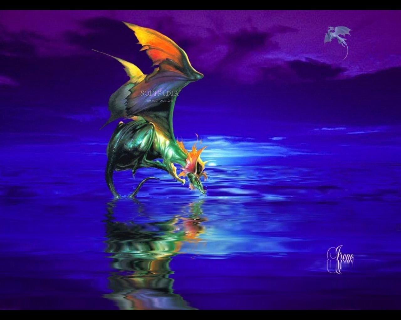 Pics Photos   Blue Dragon Screensaver Wallpaper Screensaver 1280x1024