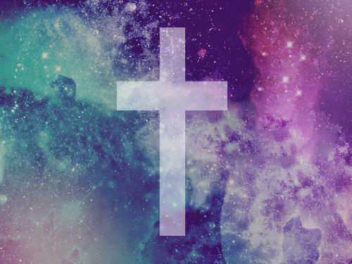 galaxy cross via Tumblr We Heart It 500x375