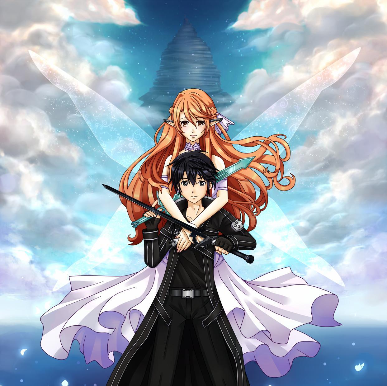 Online Wallpaper: Kirito And Asuna Wallpaper HD