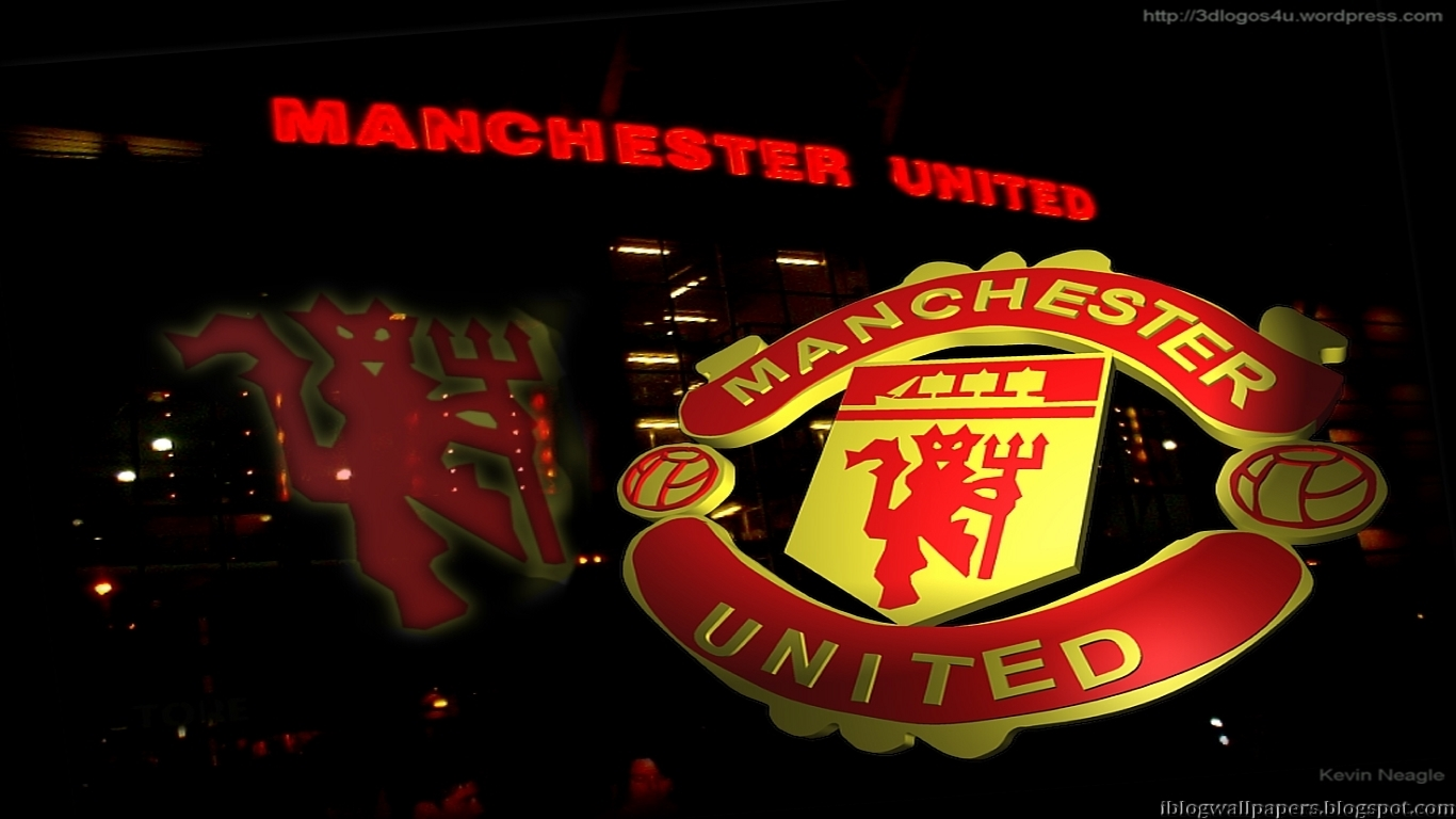 Manchester United Logo Wallpapers Collection 3 Download 1366x768