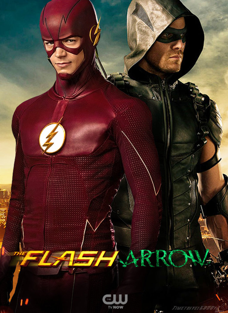 The Flash and Green Arrow CW TV Poster by Timetravel6000v2 763x1048