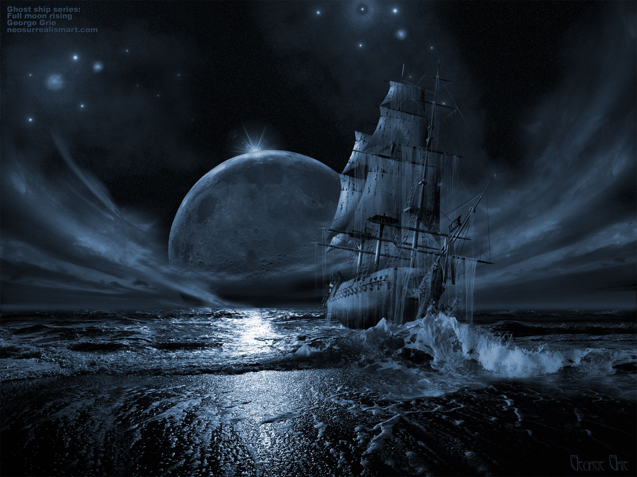 HQ 71 483d Ghost Ship Poster Wallpaper   HQ Wallpapers 1280x960