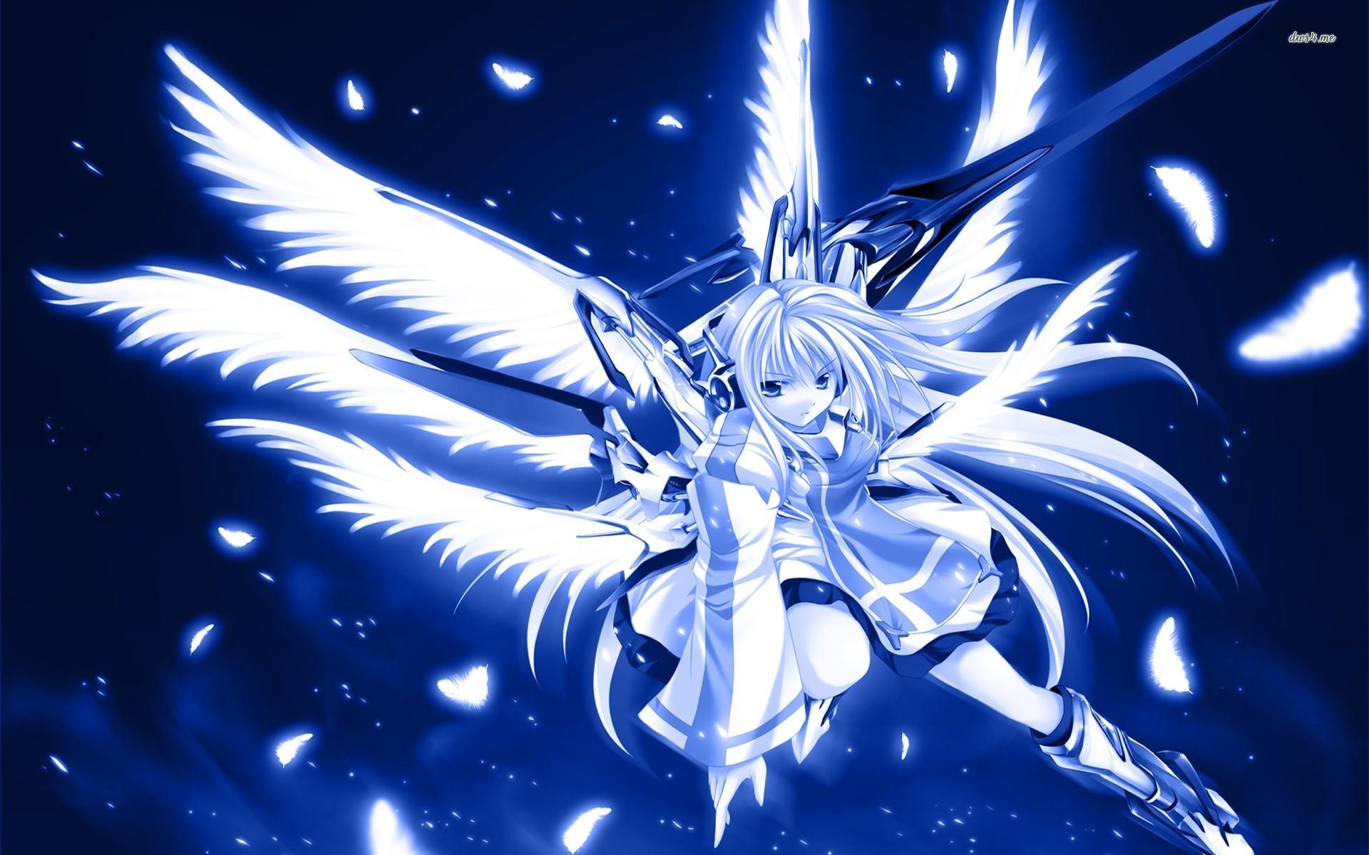 Blue anime wallpaper wallpapersafari - Anime blue girl wallpaper ...
