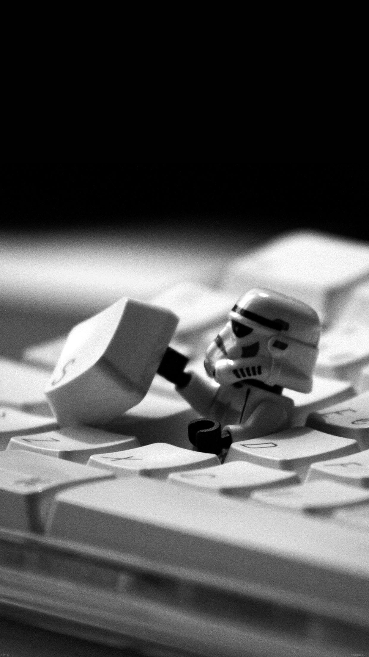 storm trooper starwars keyboard film 34 iphone6 plus wallpaperjpg 1242x2208