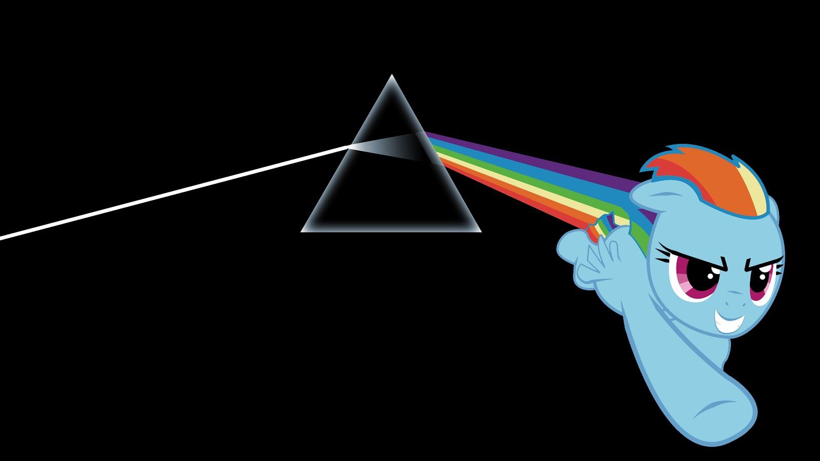 Floyd My Little Pony The Dark Side Of The Moon Rainbow Dash wallpaper 1600x900