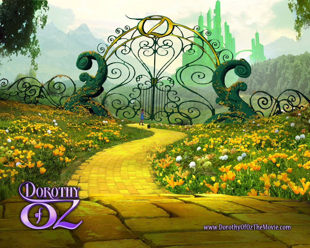 Wizard Of Oz Emerald City Wallpaper Dorothy of oz the movie 1280x1024