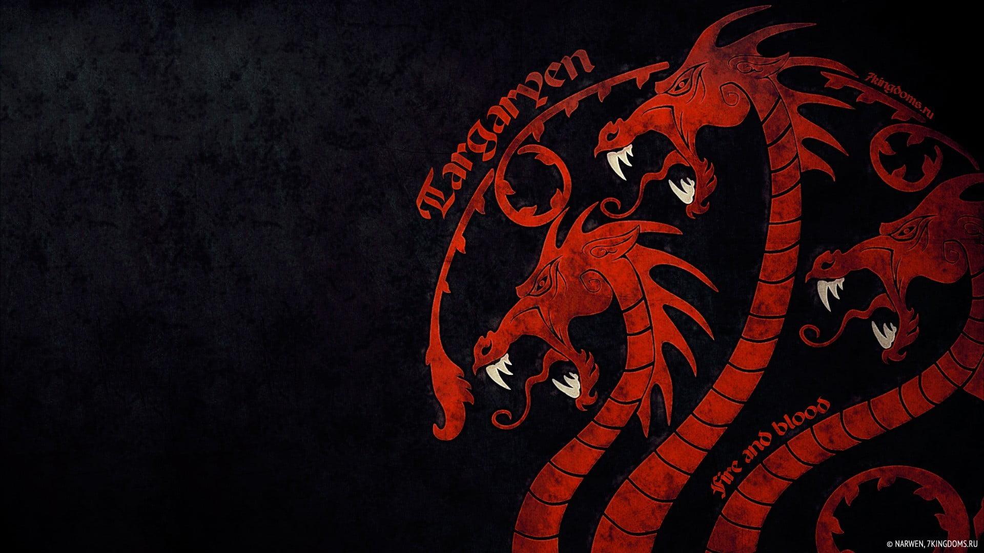 House of Targaryen sigil Game of Thrones House Targaryen fire 1920x1080